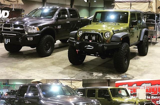 NutHouse Ram Package and JK Wrangler at Dayton Offroad Expo, cincinnati jeep and truck shop