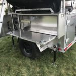 Peanut Trailer, Expedition trailer, Off road trailer, aluminum trailer, Nuthouse trailer, Nuthouse Industries, car camping, warm and dry camping, glamping, Ohio overland, ohio trailers, overland trailer, adventure trailer, 23Zero roof top tent, ARB Awning, Solar panel trailer,