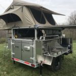 Peanut Trailer, Expedition trailer, Off road trailer, aluminum trailer, Nuthouse trailer, Nuthouse Industries, car camping, warm and dry camping, glamping, Ohio overland, ohio trailers, overland trailer, adventure trailer, 23Zero roof top tent, ARB Awning, Solar panel trailer, partner steel stove,