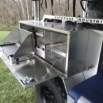 Peanut Trailer, Expedition trailer, Off road trailer, aluminum trailer, Nuthouse trailer, Nuthouse Industries, car camping, warm and dry camping, glamping, Ohio overland, ohio trailers, overland trailer, adventure trailer, partner steel stove, partner steel griddle, ARB fridge