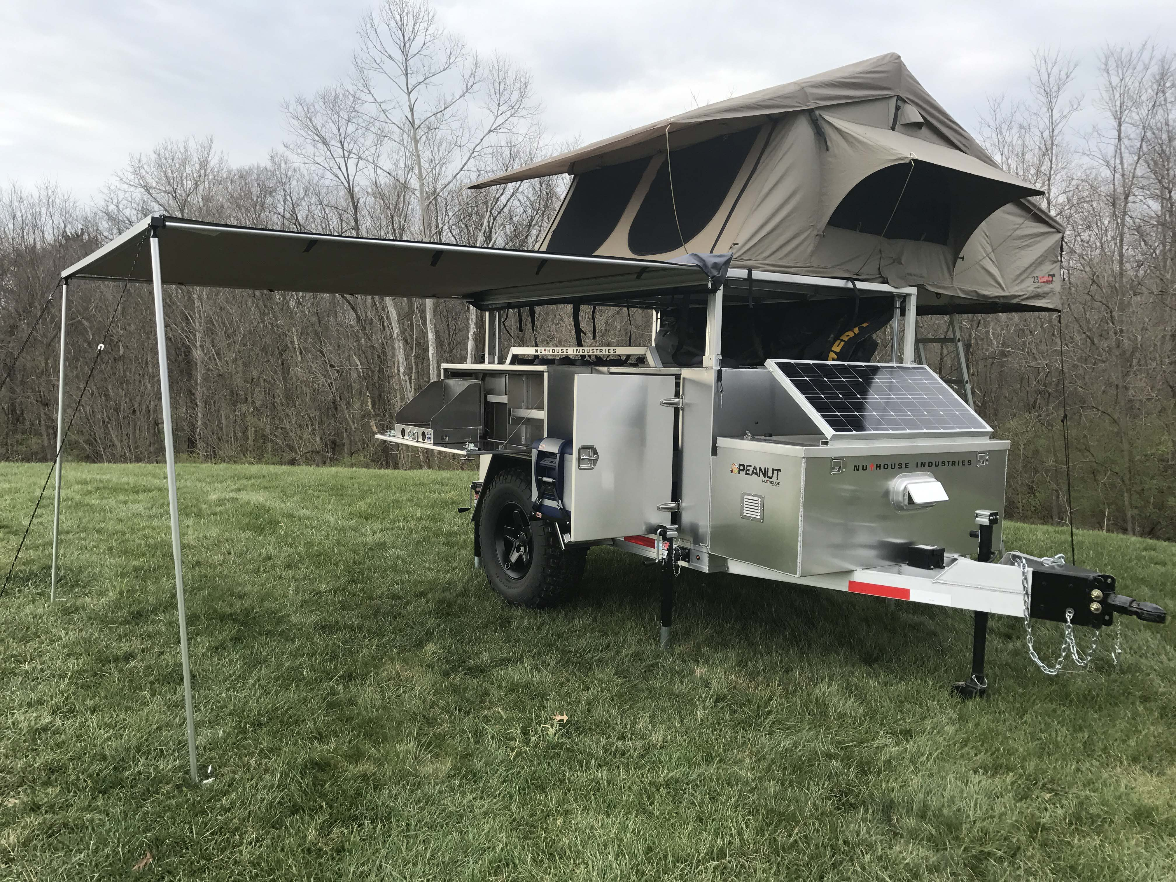 how to build aluminum frame travel trailer roof
