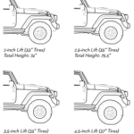 AEV JK Wrangler Suspension - Side Profiles