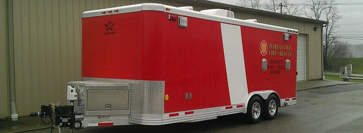All Aluminum Rescue Trailers, Haulers and Custom Trailers
