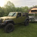 Peanut Multisport Expedition Trailer with Jeep, cincinnati jeep shop