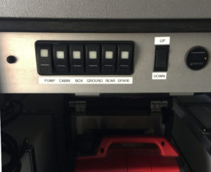 Overland trailer switch panel