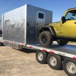 MixedNuts Gooseneck Expedition Trailer - Left Side Back w/ Jeep Loaded