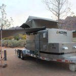Acorn Toy Hauler, Overlanding, Car camping, Ohio Overland trailer, Aluminum Trailer, Roof Top Tent, Expedition Trailer, 23 Zero, Rhino rack awning, sunseeker awning