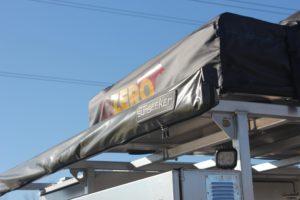 Acorn Toy Hauler, Overlanding, Car camping, Ohio Overland trailer, Aluminum Trailer, Roof Top Tent, Expedition Trailer, 23 Zero, Rhino Rack, Sunseeker