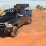 Dodge Ram Expedition Truck, Overlanding Truck, Truck Rack, Moab Utah offroad, Aluminum Truck Rack, Nuthouse Industries, full size truck moab, moab diesel truck, full size off road truck