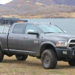 Dodge Ram Expedition Truck, Overlanding Truck, Truck Rack, Moab Utah offroad, Aluminum Truck Rack, Nuthouse Industries, Cincinnati offroad truck