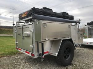 All aluminum off road trailer, expeditin trailer, ARB, fridge