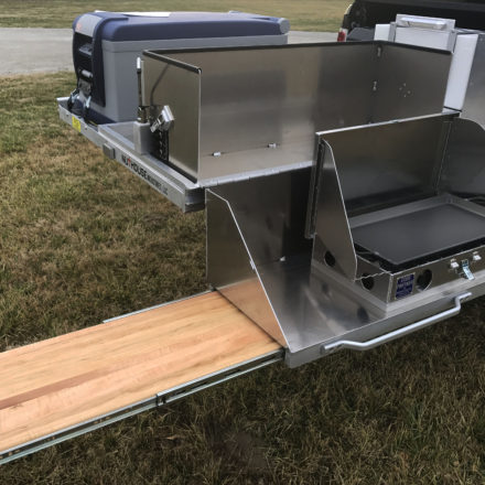 truck bed pull out slide, truck camping, car camping, overland setup, offroad camping, Cincinnati Overlanding, Ohio Overlanding