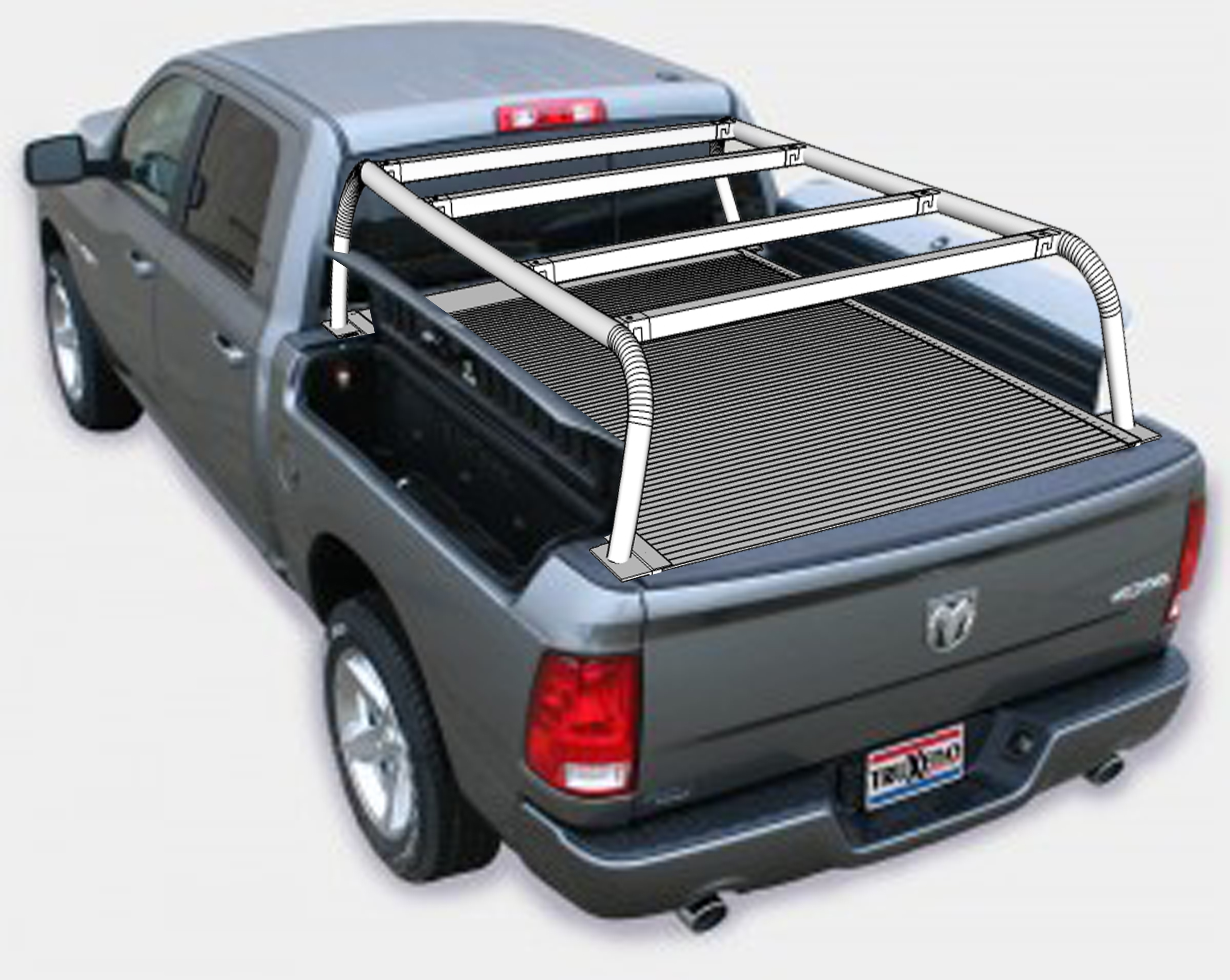 bed rack truck lod ford series large products headache racks modular test signature