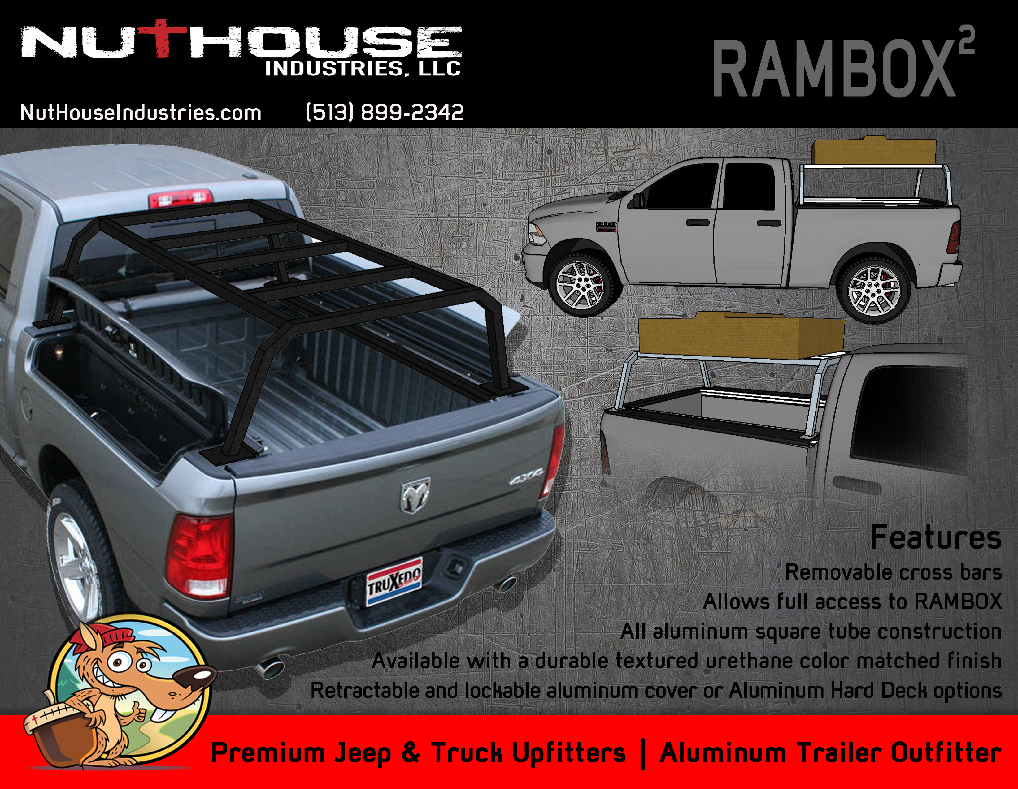 Nutzo RAMBOX series Expedition Truck Bed Rack Nuthouse Industries