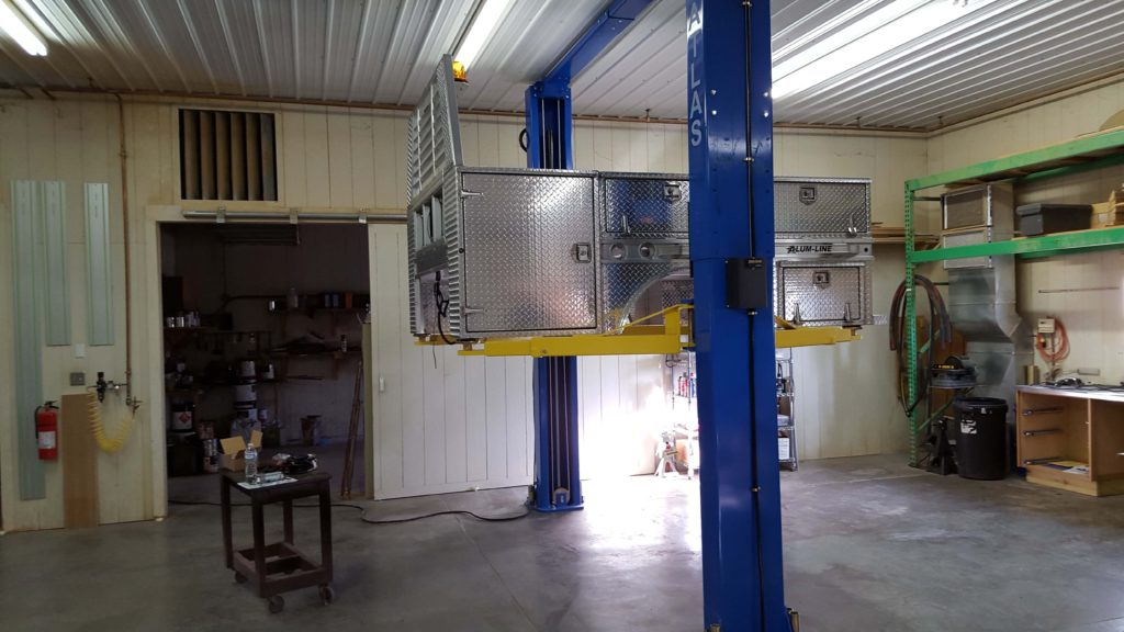 Aluminum Service body installation