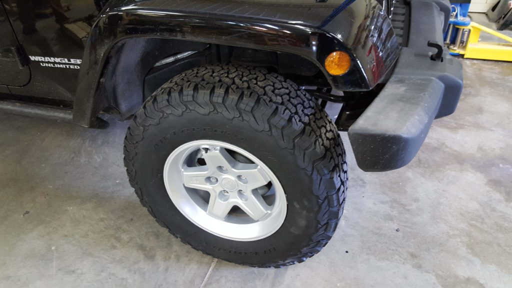 AEV Pintler wheels on Jeep JK