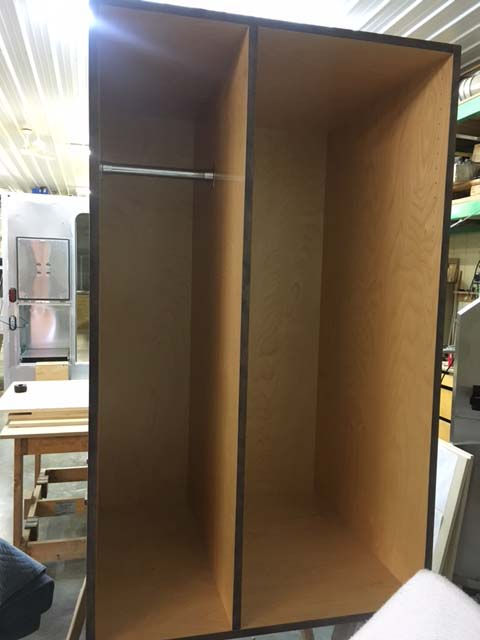 Custom cabinets for the Mixed Nuts Camper