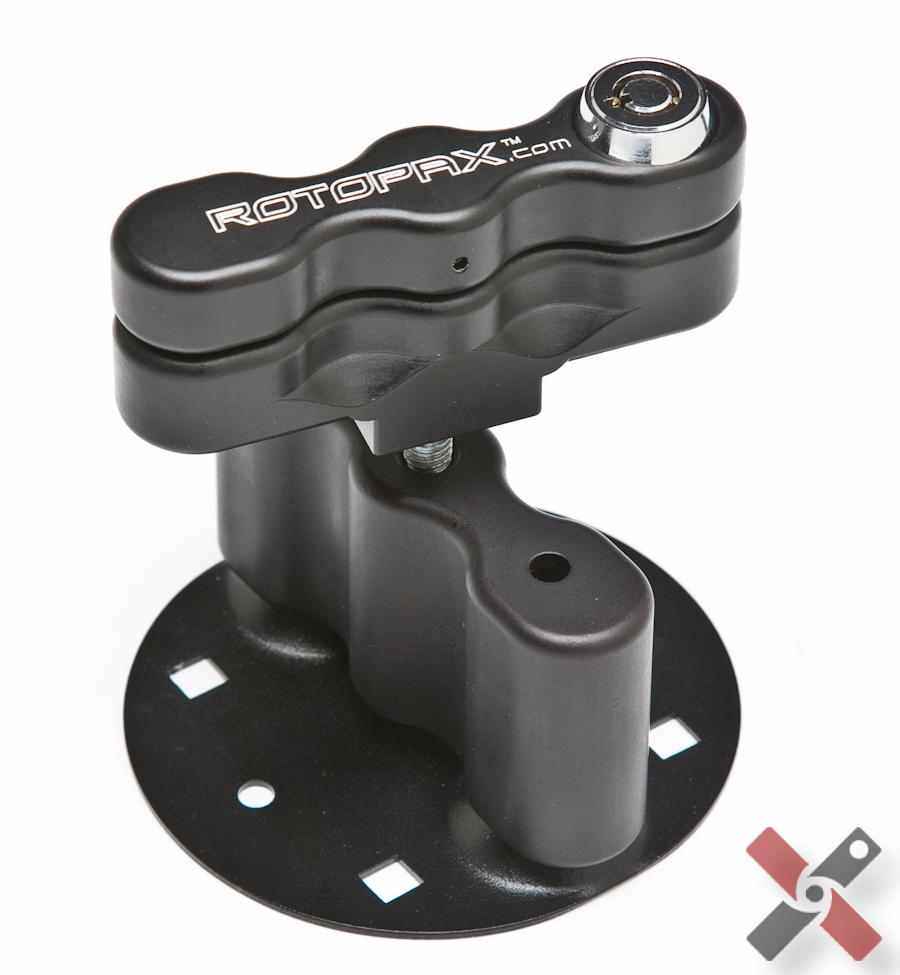 Deluxe locking Rotopax mount