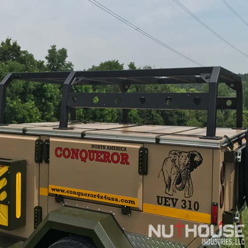 Conqueror Trailer with NutHouse Industries Rack