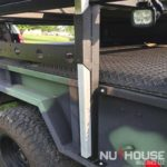 home built trailer, Overland trailer, off road trailer, camping trailer, custom off-road trailer, custom trailer builds, overlanding, off grid camping, off grid trailer, small off road trailer, small overlanding trailer, overland trailer rack, off road trailer rack, camping trailer rack, overland trailer RTT rack, roof top tent rack trailer, custom rack, best overlanding rack, nuthouse industries, nuthouse industries rack, nutzo rack, aluminum rack, aluminum overlanding rack, aluminum rtt rack, trailer tent, M101, M101A2, M101A3, M101A1, cheap trailer builds, military trailer, military trailer overlanding, budget overlanding trailer, military surplus trailer, surplus overlanding trailer, eaezi-awn, eezi-awn awning, eezi-awn trailer tent, custom awning mounts, custom trailer tongue box, vision x light, vision x dura mini,