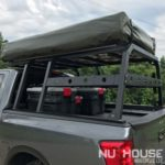 aluminum truck rack, aluminum bed rack, aluminum expedition truck rack, overland rack, overland truck rack, expedition truck bed rack, overland gear, roof top tent rack, RTT rack, custom truck rack, overland, overlanding full size truck, car camping, truck camping, ladder rack, removable cross bar, tacoma truck rack, truck bed rack, expedition truck, rotopax, best overland rack, Nissan Titan, Nissan Titan overland, titan power, eezi-awn, eezi-awn roof top tent, truck vault, overland storage, action packer for car camping, overland vehicles, Nuthouse rack, Nuthouse industries, nutzo rack,