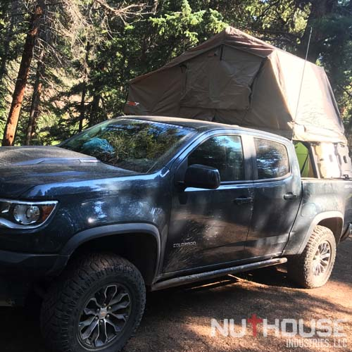 Diesel Colorado ZR2 overland truck with NutHouse Industries rack.