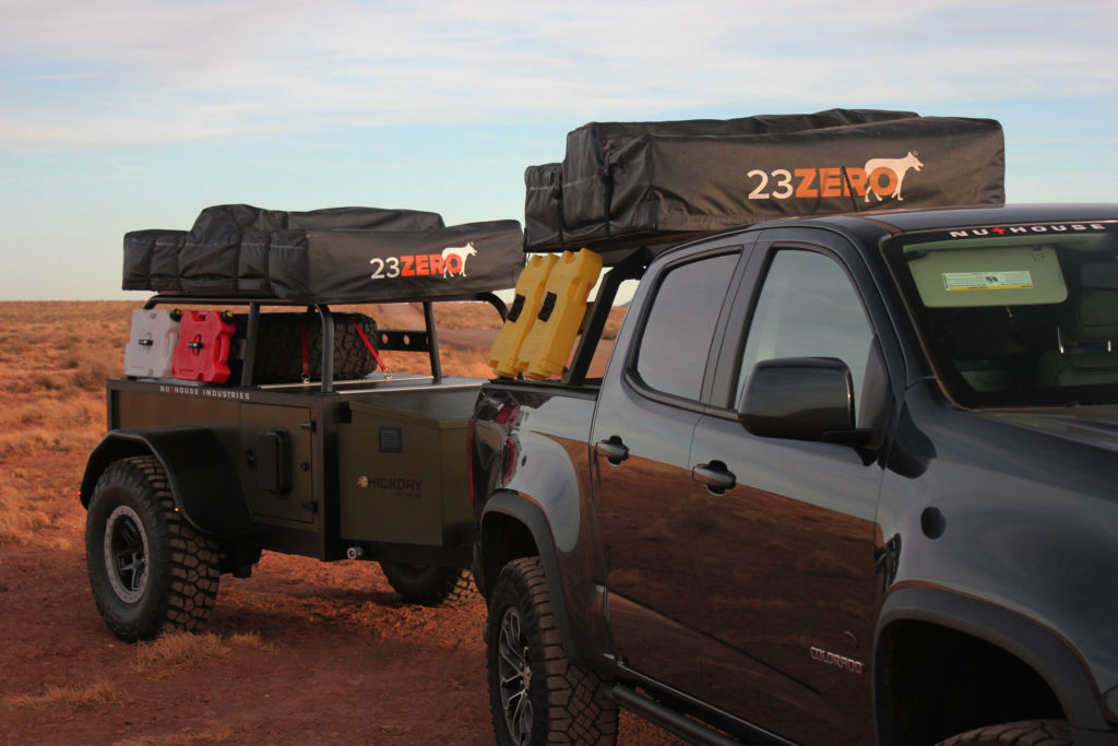 Overland zr2 with expedition trailer