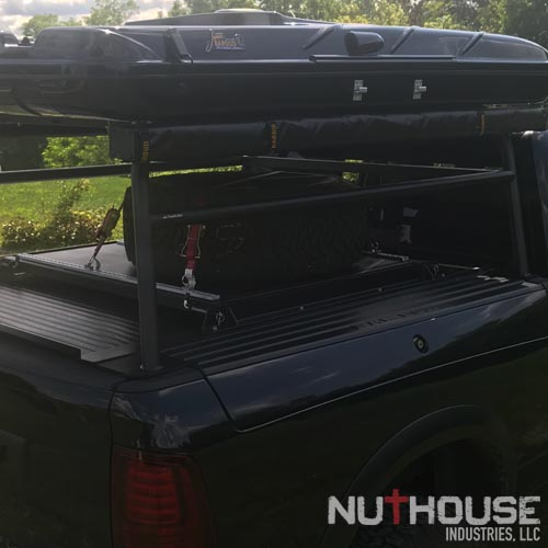 Spare tire shelf on Rambox rack