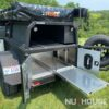 """Nuthouse Industries, Nuthouse trailers, Nuthouse overland, Overland trailer, off road trailer, camping trailer, custom off-road trailer, custom trailer builds, overlanding, off grid camping, off grid trailer, small off road trailer, small overlanding trailer, overland trailer rack, off road trailer rack, camping trailer rack, overland trailer RTT rack, roof top tent rack trailer, custom rack, Ohio trailer, Cincinnati trailers, car camping, jeep trailers, rtt camping, all aluminum trailers, best overlanding trailer, off road aluminum trailer, off road utility trailer, best aluminum trailers, East coast trailer, east coast overland, Built in the USA, American made, lifetime trailers, offroad trailer with 37"""" tires, overland trailer with 37"""" tires, oversized trailer tires, Timbren axels, independent trailer axel, lock n roll hitch, nut house, M101, M101A2, M101A3, M101A1, cheap trailer builds, military trailer, military trailer overlanding, budget overlanding trailer, military surplus trailer, surplus overlanding trailer, custom awning mounts, custom trailer tongue box, vision x light, vision x dura mini, homebuilt trailer Acorn Toy Hauler, Overlanding, Car camping, Ohio Overland trailer, Aluminum Trailer, Roof Top Tent, Expedition Trailer, 23 Zero, Ohio trailers, lightweight toyhauler, base camp trailer, partner steel stove, arb fridge, climate right ac, rtt, roof top tent, Sydney roof top tent, sydney rtt, rhino rack, rhino rack sunseeker, Nuthouse Industries, trailer with onboard water, rotopax, 23 zero, syndney rof top tent, bundaberg roof top tent, vision x, vision x dura mini, rhino rack, full extension bed slide, pull out expedition truck slide, aluminum bed slide, pick up truck camp kitchen, ARB fridge freeze, truck bed pull out slide, truck camping, car camping, overland setup, offroad camping, partner steel stove, partner steel griddle, maple cutting board, truck with onboard water, truck with onboard battery, truck kitchen, offroad kitchen, expedition kitche"""